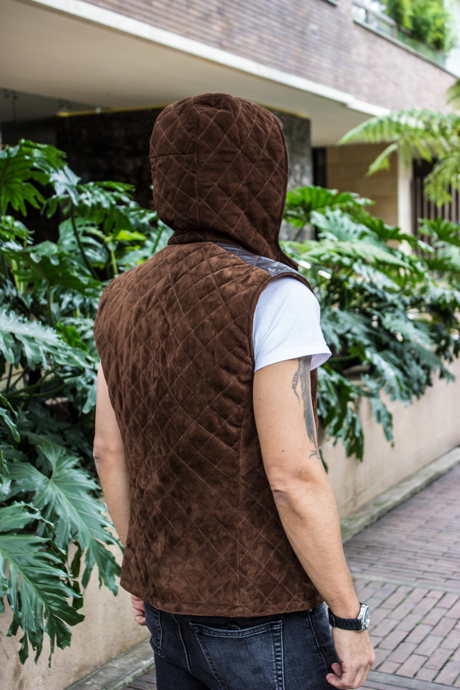 HD Suede  - Leather Vest in Brown