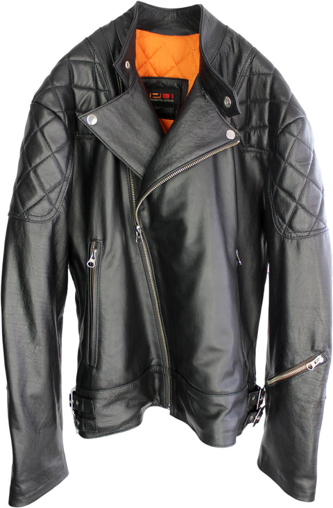 S. Monza - Leather Jacket Black Calf  - Rebel
