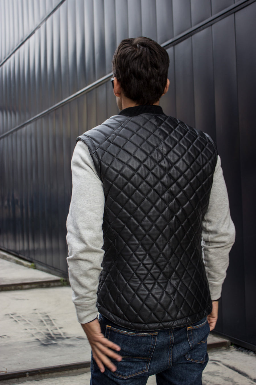 SURVIVAL  - Leather Vest in Black