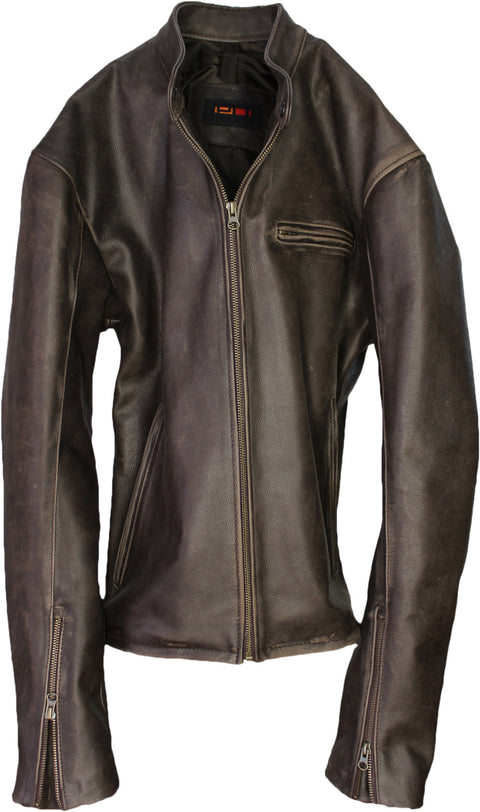 R79 Leather Jacket Napa Distressed Brown Vintage Fit - Cafe Racer