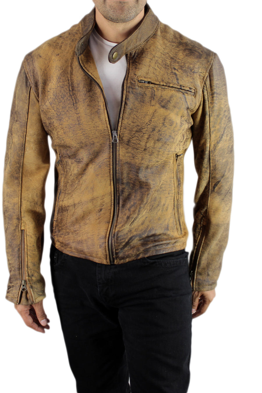 R79 Leather Jacket Full Ultra Distressed - PDCollection Leatherwear - Online Shop