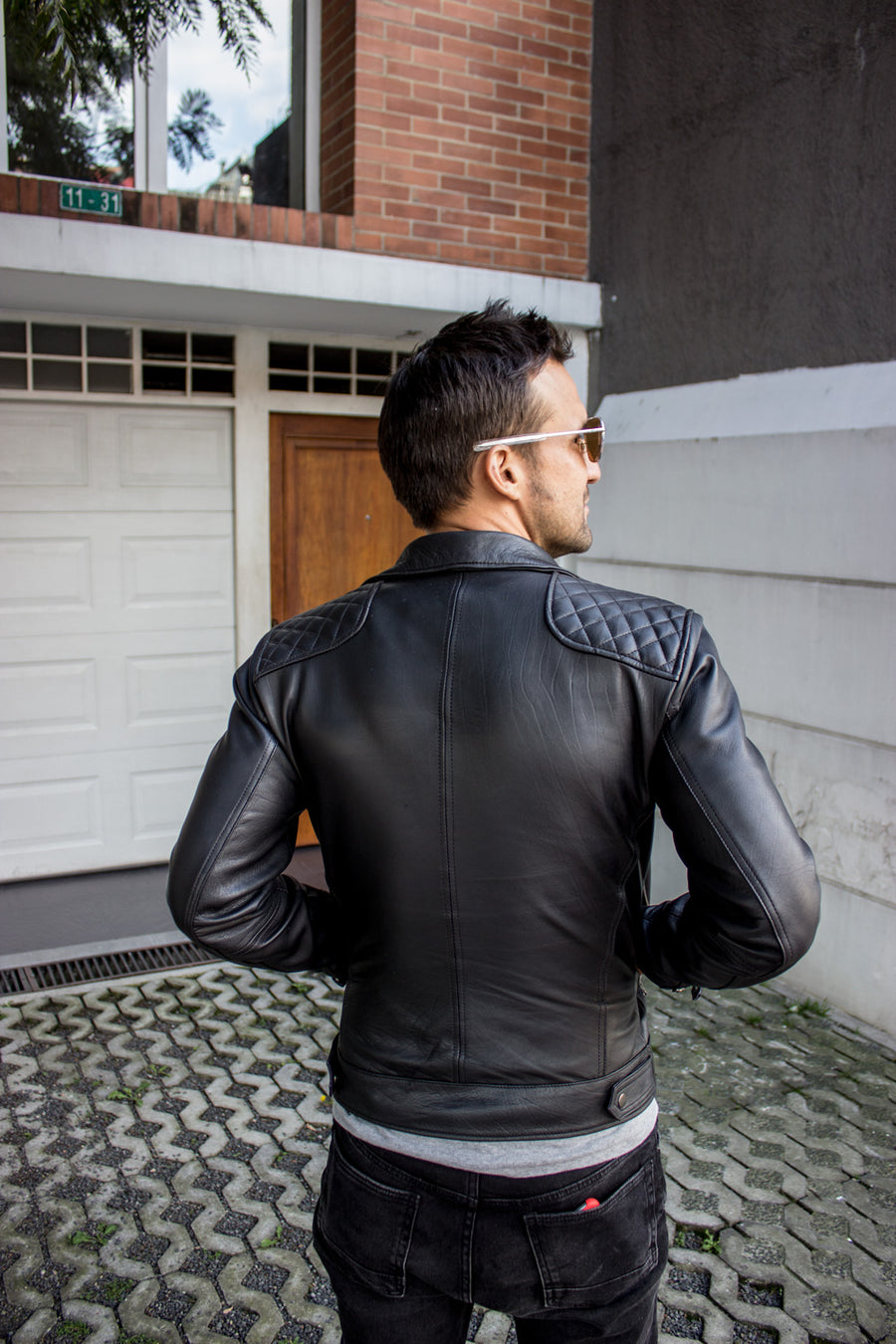 LUKAS BOLD CR Leather Jacket diamond Quilted - Black - Magic RUDE Video
