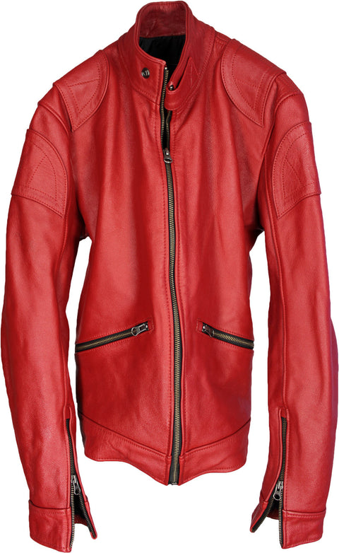 PRAGA Leather Jacket Red
