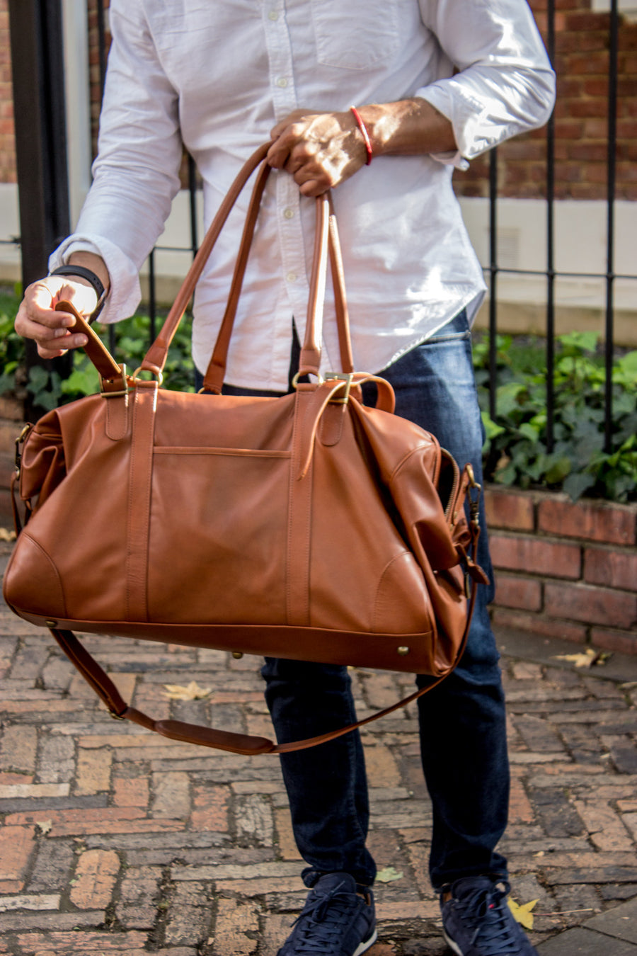 WEEKEND LUX Leather Bag in Brown Color