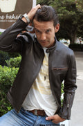 R79 Leather Jacket Brown Vintage Fit - Motorcycle Cafe Racer