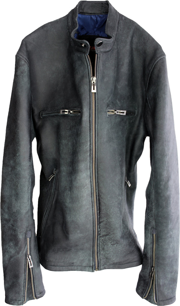 R99 Leather Jacket Washed Leather - Gray