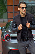 LOTUS DT Leather Jacket Satin Black on Black  - Bison & Nubuck Suede