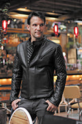 LOTUS ROCKSTAR  Leather Jacket Black w/ Black Hardware