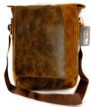 VESPA Leather Bag - Distressed Aged Leather