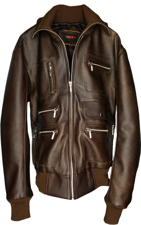 BERLIN Leather Jacket Brown Edition - Lambskin