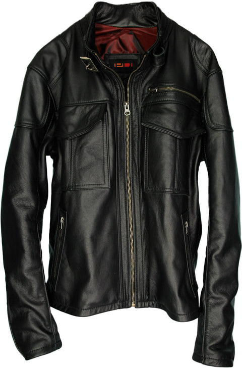 TRUE Leather Jacket  - In Black Napa