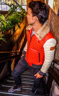 MAR LE Leather Jacket - Limited Edition - Orange - Beige