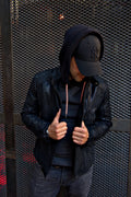 LOTUS RK Leather Jacket Satin Black on Black  - Bison Nubuck  -