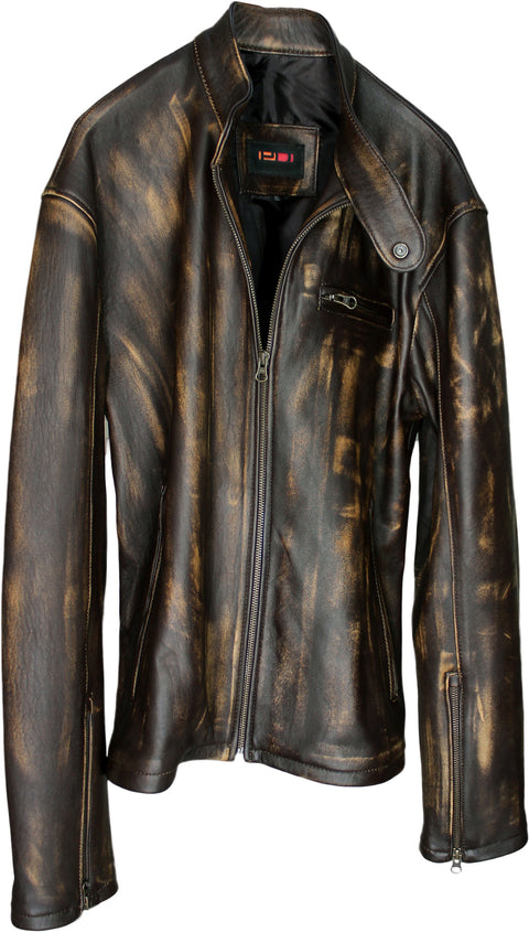 R79 EXTREME - Leather Jacket Lambskin - Brown Stained Look