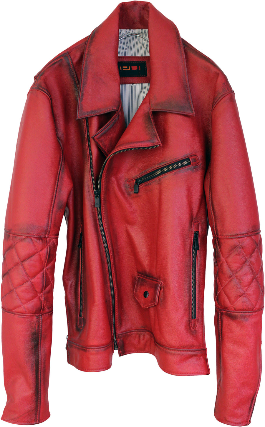 MAG AX Leather Jacket Napa - Red - Hand Burnished - Limited