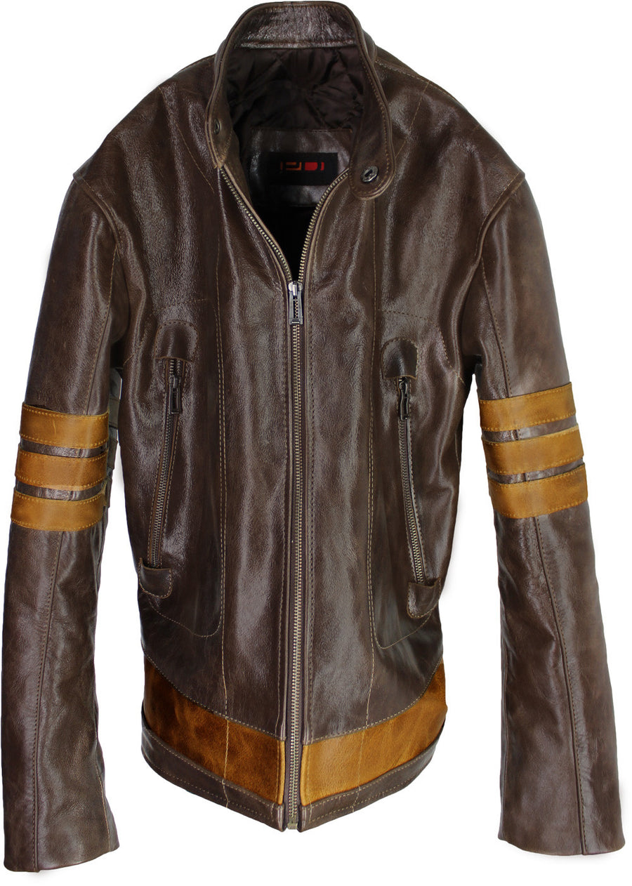 LOGAN Leather Jacket Distressed Brown - 1st Edition