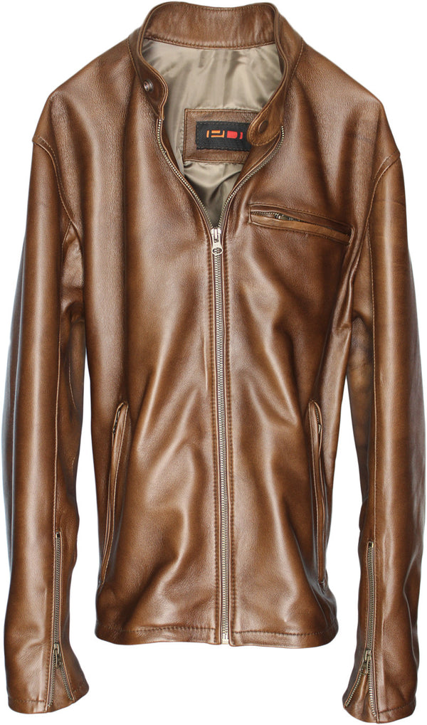 R79 Leather Jacket Hazelnut Vintage Cafe Racer -