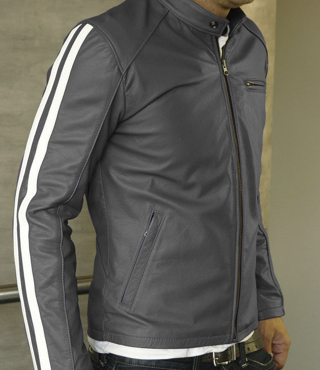 R80 Leather Jacket Gray