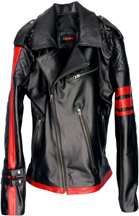 STREET PUNK Leather Jacket  - In Black Napa Leather - Limited