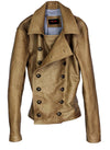 WESTERN Leather Jacket  Lambskin - Natural Stone
