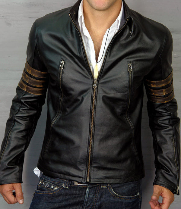 XMEN ORIGINS Leather Jacket Black Edition