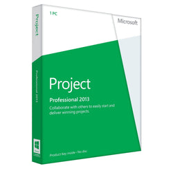 Microsoft Project Professional 2013 for 1 PC Device-Retail-key4good