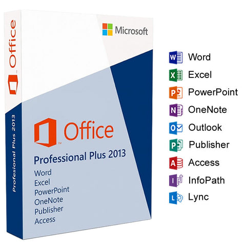 Microsoft Office Professional Plus 2013 for 3 PC Devices 32bits/64bit-Retail-key4good