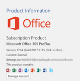 Microsoft Office 365 Professional Plus lifetime subscription 32bits/64bits-Retail-key4good