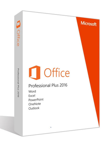 Microsoft Office Professional Plus 2016 for 3 PCs 32bits/64bits-Retail-key4good
