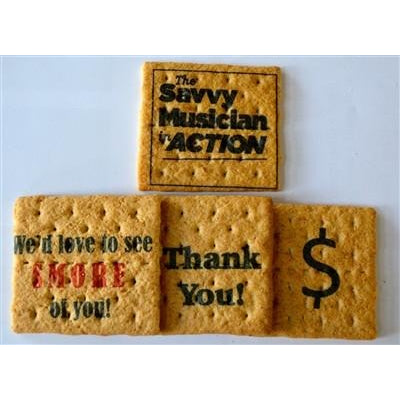 Printed Graham Cracker Squares - Custom Corporate, Set of 24 Bulk