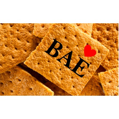 Printed Graham Cracker Squares - Valentine