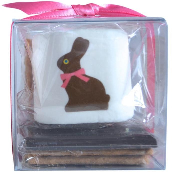 S'more Kit with an Easter Bunny printed on the marshmallow