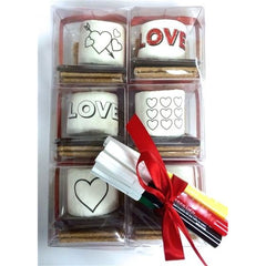 DoodleMallows™ Color Your Own Mallows S'mores Gift Set - Valentine's Day