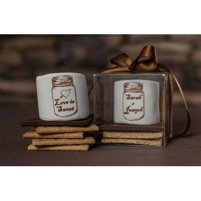 Custom S'more Kit  - Wedding Mason Jar
