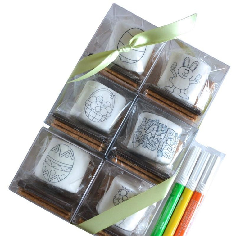 DoodleMallows™ Color Your Own Mallows S'mores Gift Set - Easter