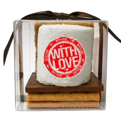 Custom S'mores Kit - Valentine's Day,  Gift Set of 6