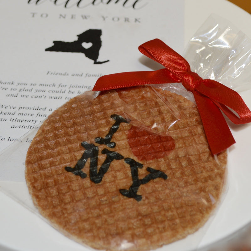 Stroopwafel with a printed company design
