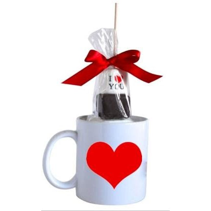 Hot Chocolate Stick - Valentine's Day with Red Heart Mug