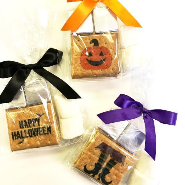 Custom S'more Kit - With Printed Graham, Halloween