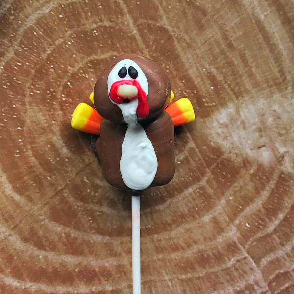 Decorated Marshmallow Pops - Turkey