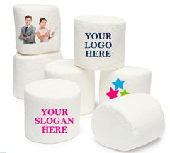 Design Your Own Jumbo Round Marshmallow using Your Brand's Logo or Any Personal Image