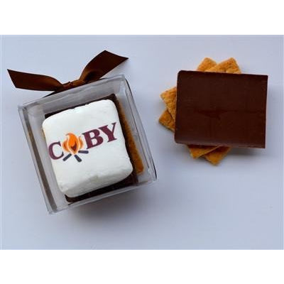 Custom S'more Kit - SQUARE Marshmallows,  Logo/Design
