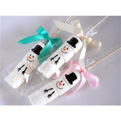Marshmallow Sticks - Snowman, Set of 4