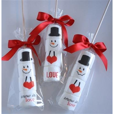 Marshmallow Sticks - Snowman (SNOW IN LOVE), Set of 4