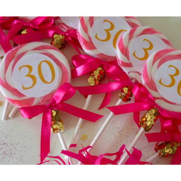 "3"" Personalized Lollipop Favors"