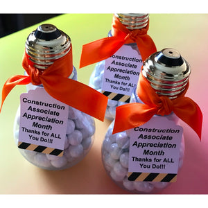 Candy Filled Light Bulb, Favor or Gift