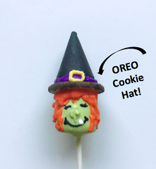 Decorated Marshmallow Pops - Halloween Witch