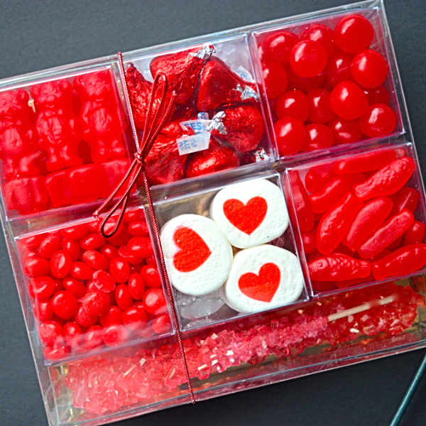 Valentine's Day Candy Gift Box filled with fun sweets for your sweet!