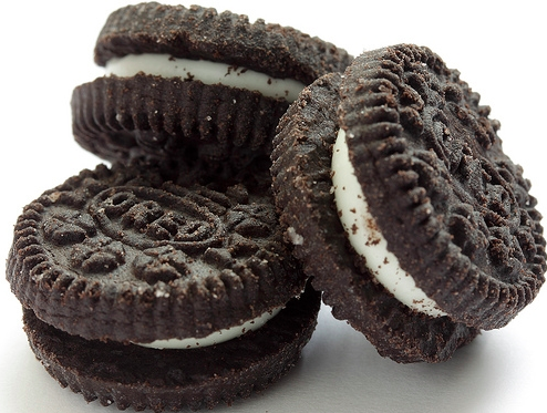 Image of mini Oreo without chocolate and image