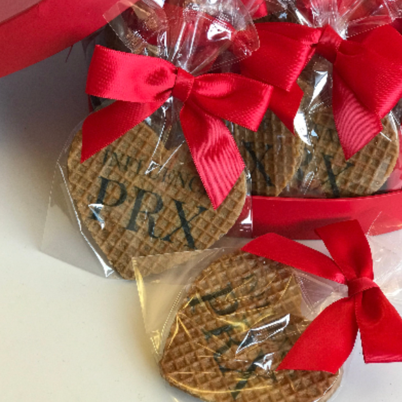 Heart Shaped Stroopwafel Cookie - Valentine's Day